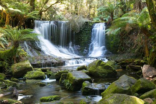 landscape waterfall falls tasmania horseshoe