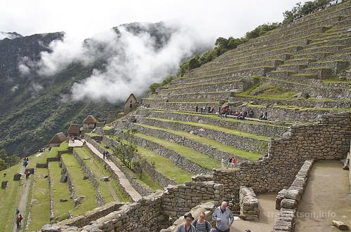 【写真】2015 世界一周 : マチュ・ピチュ・段々畑~聖なる岩
