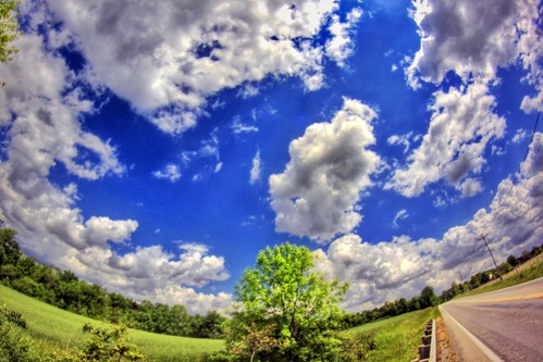canon eos dslr 500d t1i app rebel fisheye rokinon jamiesmed prime lens snapseed iphoneedit handyphoto geotagged blue skies sky geotag trees 2012 teamcanon fixed manual focus facebook wide angle browncounty ohio landscape rural may midwest photography clouds spring