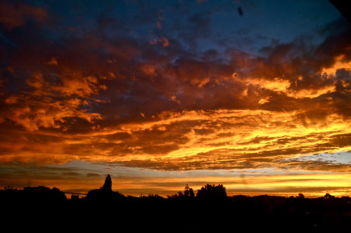 sunset sky clouds dusk johannesburg melville