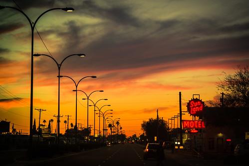 sunset arizona usa neon unitedstates fav50 unitedstatesofamerica motel mesa fav10 fav25 fav100 sunlandmotel