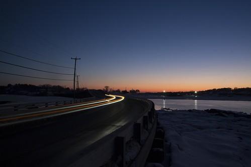 ocean travel bridge sunset usa car island evening time maine trail filter bailey lapse polarise sooc