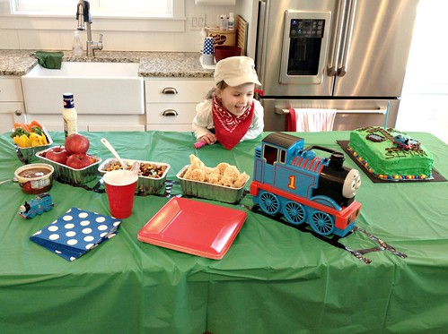 I Borrowed The Thomas Train On Counter From Our Church Nursery And Loaf Pans Came In A 6 Pack For 1