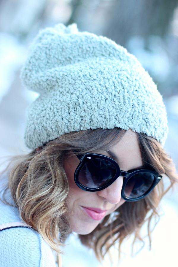 winter pastel beanie
