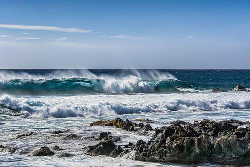 ocean park sea beach island hawaii lava big nikon rocks surf pacific crash wave national riptide kohala lapakahi d7100