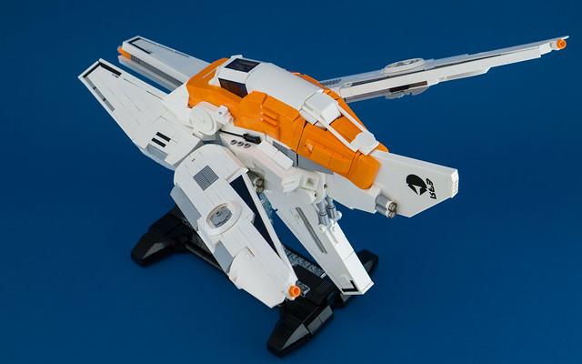 LEGO Spaceship - Iridium Dawn: Rear 3/4