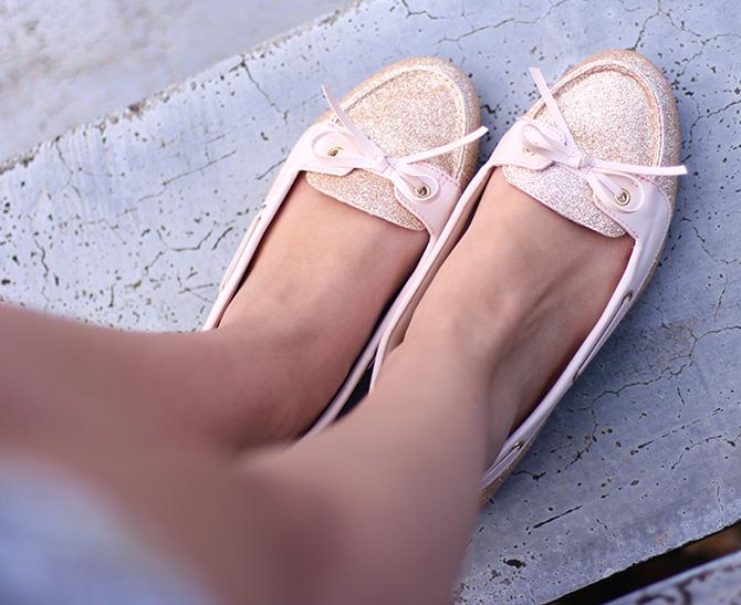 8-look do dia shorts margarida e sapatilha dourada belle Petite Jolie blog sempre glamour