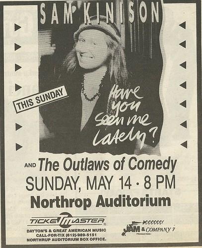 05/14/89 Sam Kinison @ Northrop Auditorium, Minneapolis, MN