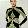 Black & Green Long Sleeve evening gown | We can produce a custom dress like this for you at a great price. Contact us for cost and other evening gown options at www.dariuscordell.com | #couture #fashion #designerdress #designerfashion #designer #designerc