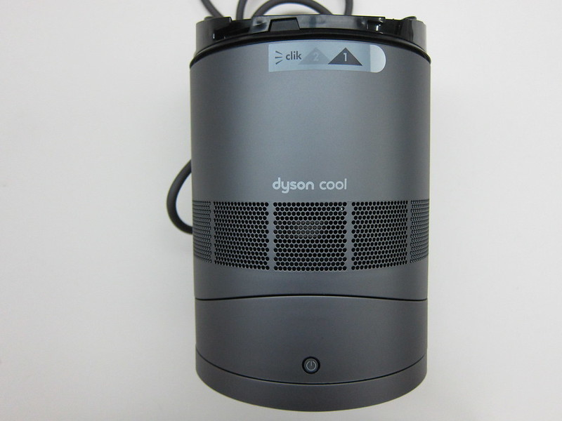 Dyson AM06 Desk Fan 25cm (Iron & Blue) - Base Front