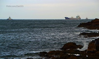 Lysblink Seaways under tow
