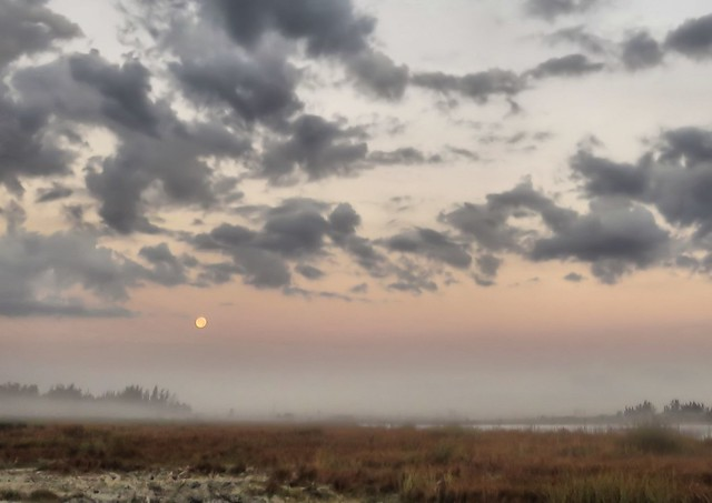 Moon and mist HDR 20150306