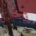 Peintures et rouille, port ostréicole, Andernos-les-Bains, Gironde, Aquitaine, France. ©byb64