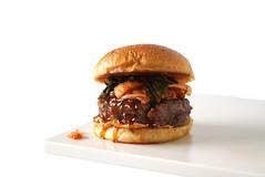 burger hamburger korean bbq barbecue soy sauce ses…