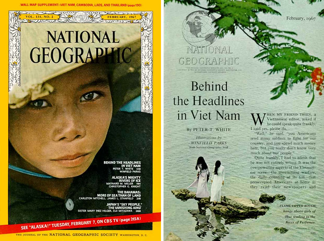 NATIONAL GEOGRAPHIC February 1967 - Behind the Headlines in Viet Nam - by PETER T. WHITE