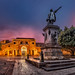 Dominican Republic, Santo Domingo, Zona Colonial, statue of Columbus and Primada de America cathedral by dleiva