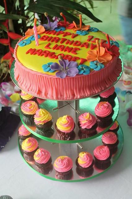 Simple Hawaiian Theme Cake by Carmen Espina Woods