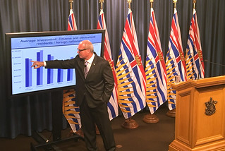 Updated data on foreign investment show more than $885 million in foreign investment flowed into Metro Vancouver's residential real estate market in just five weeks, representing 86% of the capital invested in the sector by foreign purchasers throughout the province.