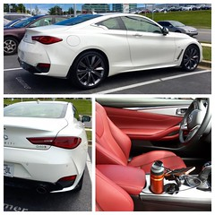 2017 Infiniti Q60S 3.0t AWD coupe manufacturer's training car. It looks great in person especially the color combo. #infiniti #2017q60 #q60 #mischieftv