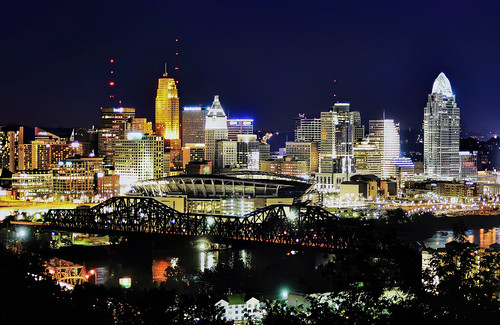 The skyline of Cincinnati, Ohio, USA / The Queen City