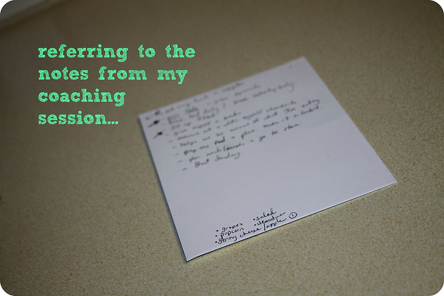 notes from weight watchers personal coaching