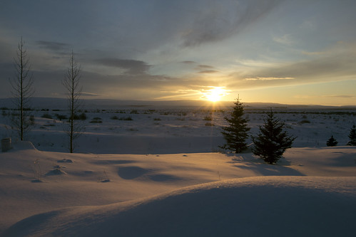 morning light sun snow sunrise iceland