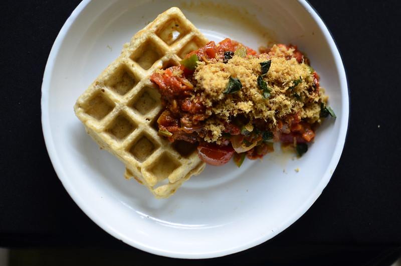 Yam Waffles with Dambu Kazaa