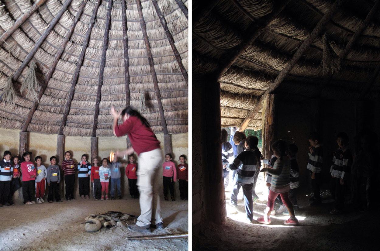 arqueopinto_prehistoria_vida cotidiana_cabañas_fuego