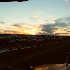Tonight's sunset in Wyoming