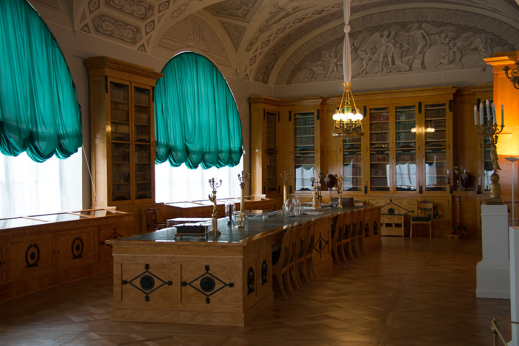 Library inside Pavlovsk Palace