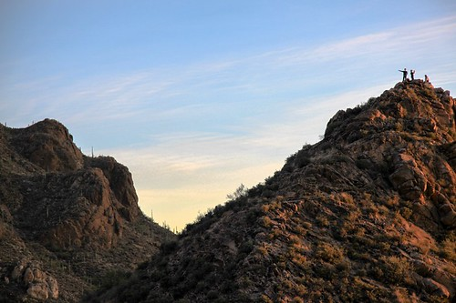 sunset arizona mountain desert tucson saguaro desertm