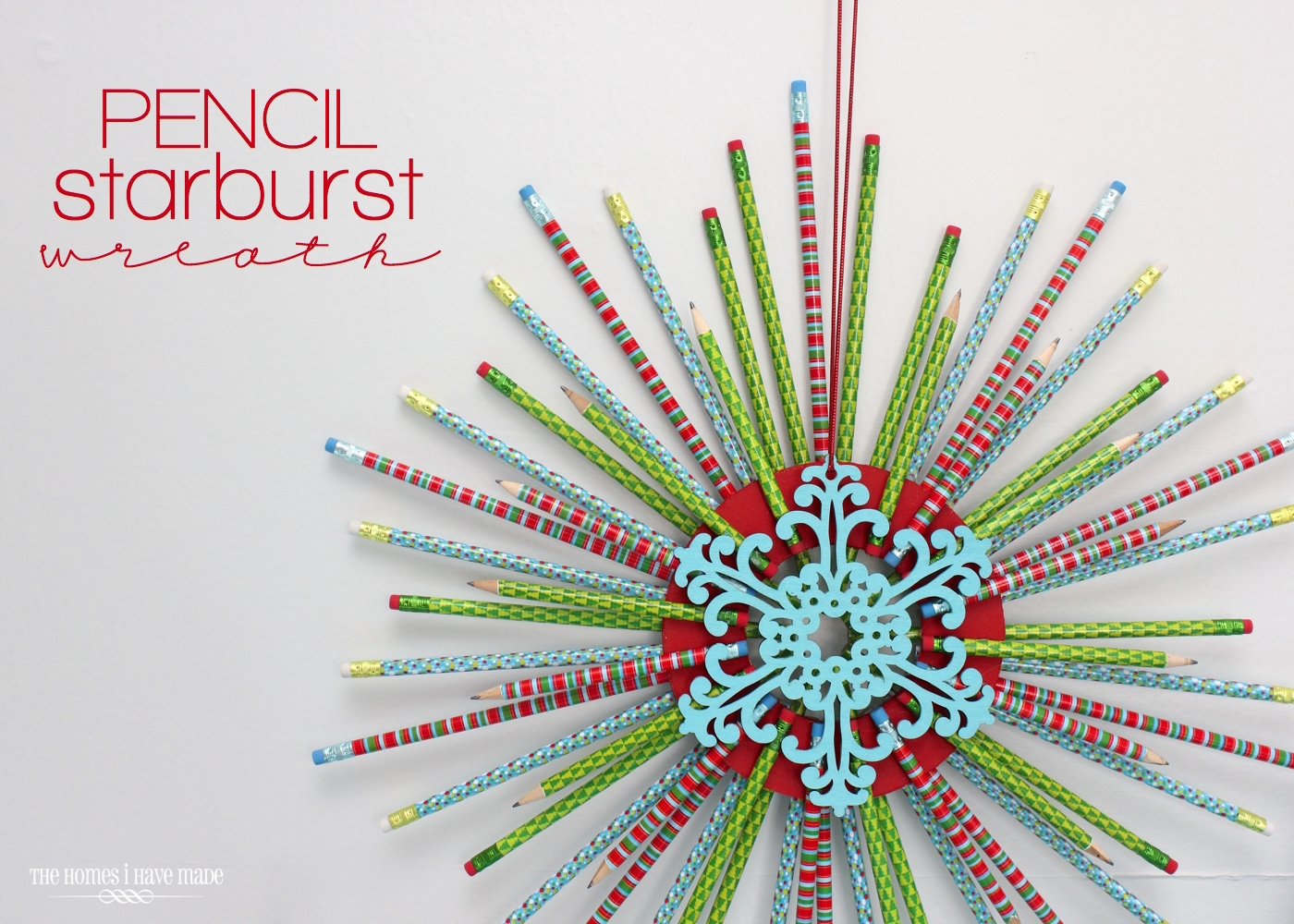 Pencil Starburst Wreath-015
