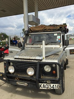 Poynting Antenna on the front of the Landrover
