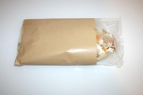 03 - Wagner Rustipani Hähnchenbrust auf Frischkäse-Creme / Chicken breast on cream cheese - Rohling eingepackt / Wrapped