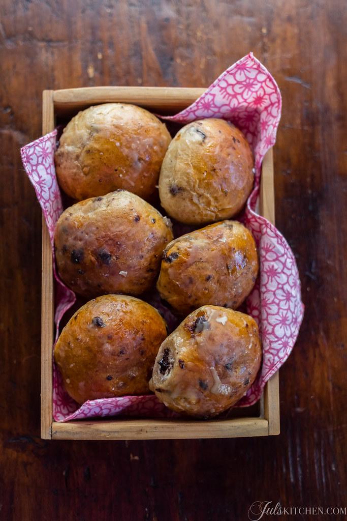 sweet chocolate buns