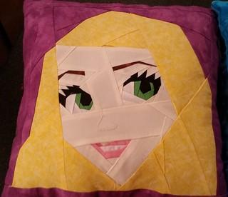 Rapunzel pillow