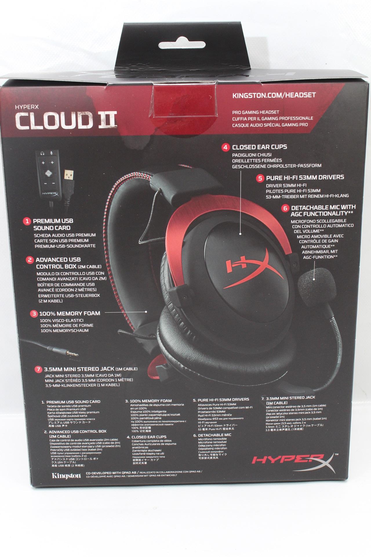 內建DSP音效卡,7.1聲道電競耳機,Kingston HyperX Cloud II更逼真的音效感受