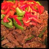 #CucinaDelloZio - #Homemade #TexasStyle #Chili - red + green peppers