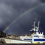 Arcobaleno sul porto di #Pescara #Abruzzo #Italy