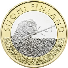 Finland 5 euro Coin on Satakunta Province obverse