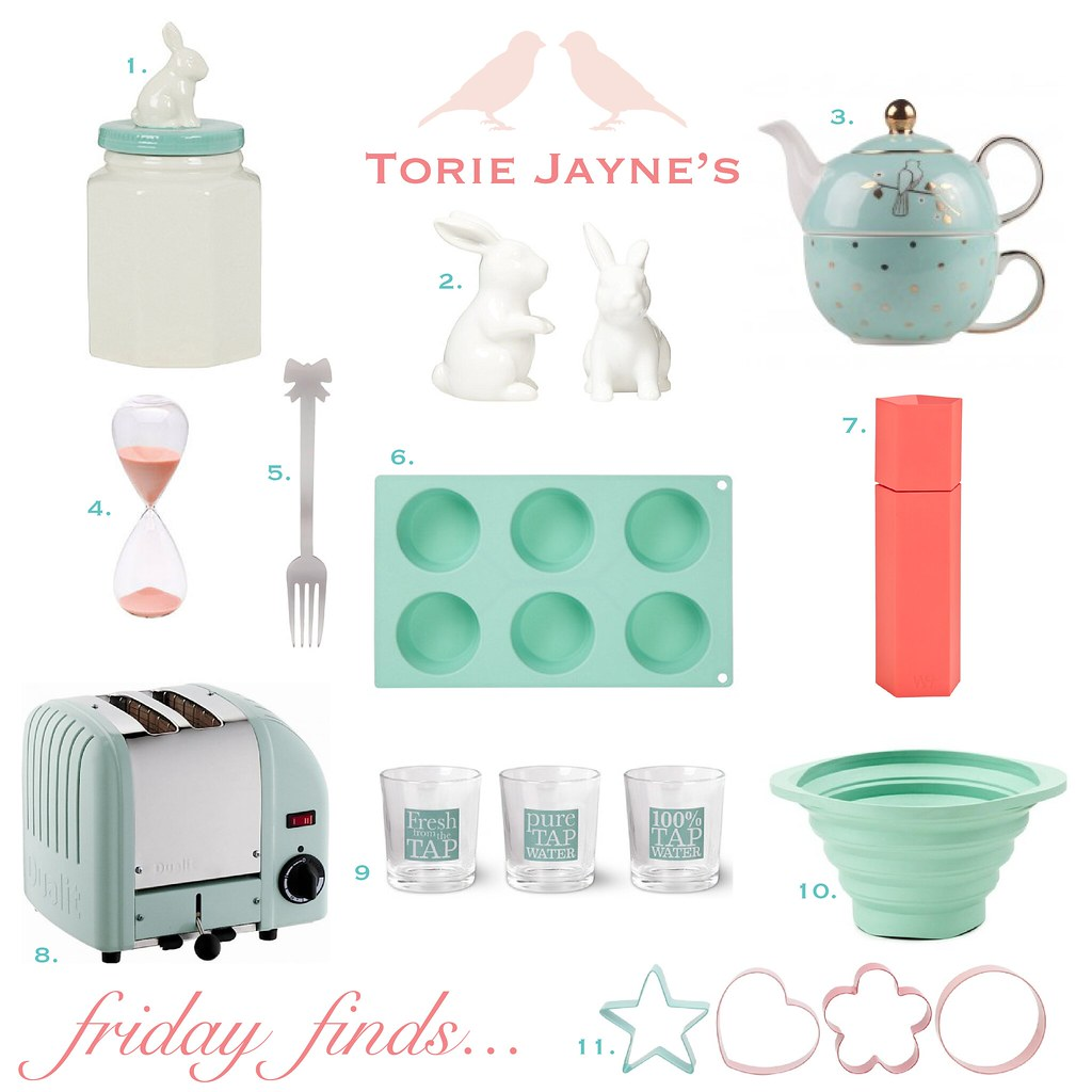 Friday finds mint & peach kitchen