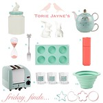 Friday finds mint & peach kitchen