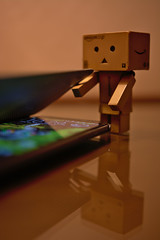 Danbo want to use my smart phone