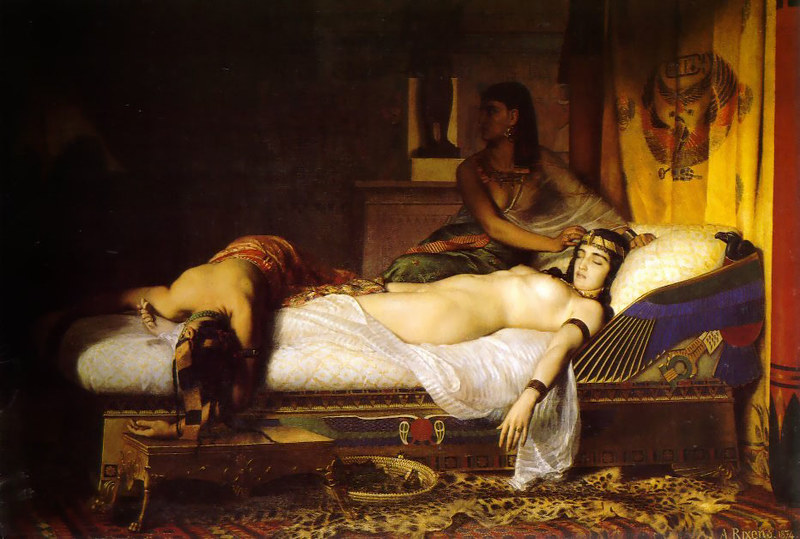 Painting Death of Cleopatra by Jean-André Rixens