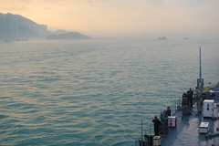 USS Blue Ridge (LCC 19) prepares to anchor in Hong Kong, March 20. (U.S. Navy/MC3 Samuel Weldin)