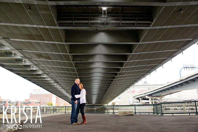 Engagement Portrait Session near the Zakim Bridge in Boston