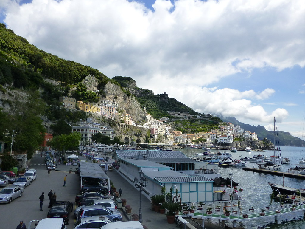 View of Amalfi from the Marina
