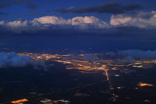 california clouds evening dusk citylights aerialphotography manteca lathrop
