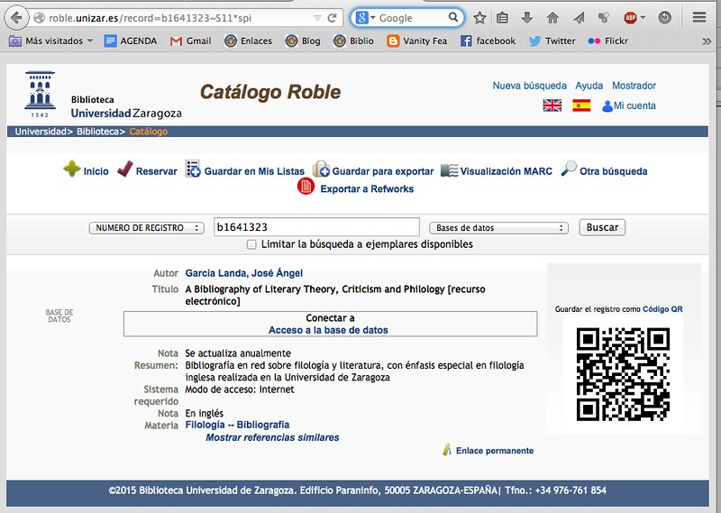 Catalogado en Roble