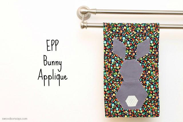 EPP Hexagon Bunny Applique